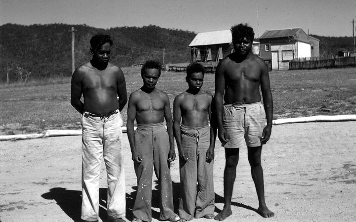 Australian pygmies bookended by Australian Aborigines.