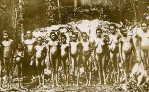 Australian pygmy tribe.